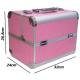 Kuferek kosmetyczny różowy z cyrkoniami