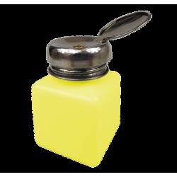 Dozownik do płynów 120 ml - METALOWY ŻÓŁTY