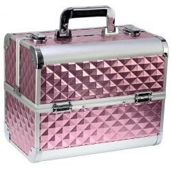 Kuferek kosmetyczny 3D różowy